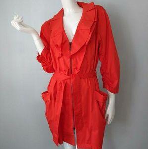 Bright orange coat jacket blazer size L